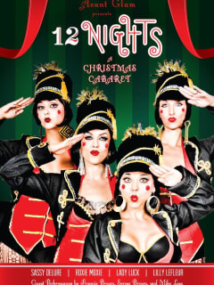 poster for Avant Glam Cabaret's production 12 Nights: a Christmas Cabaret