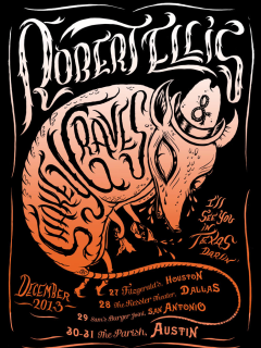 poster for Shakey Graves and Robert Ellis at The Parish