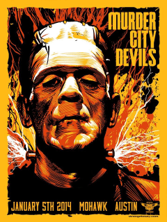 poster for Murder City Devils show at the Mohawk