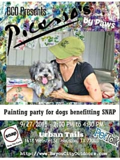 Bayou City Outdoors Picasso's by Paws Painting Party & Fundraiser