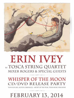 poster for Erin Ivey album release show with Tosca String Quartet