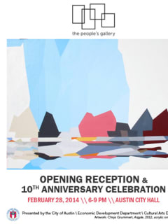poster for The People's Gallery Opening reception at austin city hall