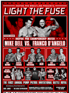 poster for Inspire Pro Wrestling show Light the Fuse
