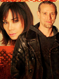 Adam Pascal and Daphne Rubin-Vega of Rent poster for ZACH performance
