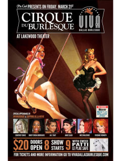 Viva Dallas Burlesque presents Cirque du Burlesque