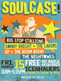 poster for Soulcase at Icenhauer's with The Nightowls