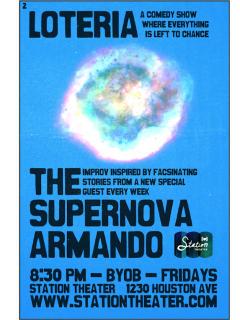 Improv Comedy: Supernova Armando with guest Veronica Triplett