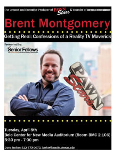 Brent Montgomery of Pawn Stars talk at UT moody college of communications