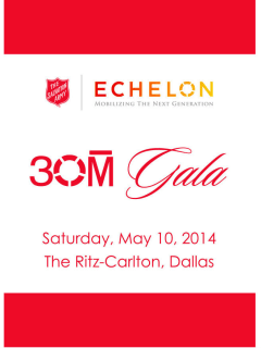 The Salvation Army Echelon 30M Gala