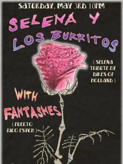 poster for Selena Y Los Burritos at Spider House Ballroom