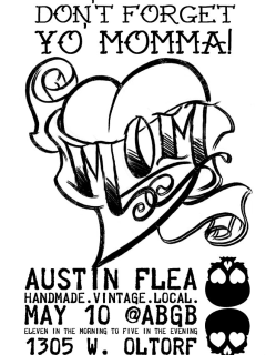 poster for the Austin Flea at ABGB may 2014