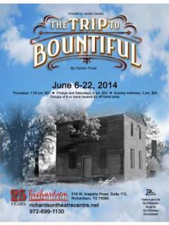 Richardson Theatre Centre presents The Trip to Bountiful