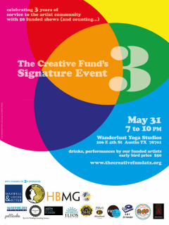 poster for the Creative Fund's signature event 3