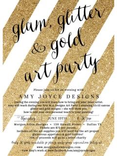 Glam, Glitter & Gold Art Party