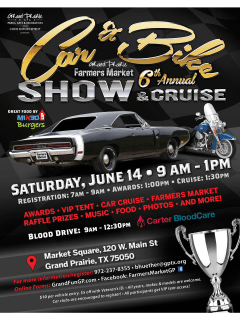 Grand Prairie Farmers Market Car & Bike Show