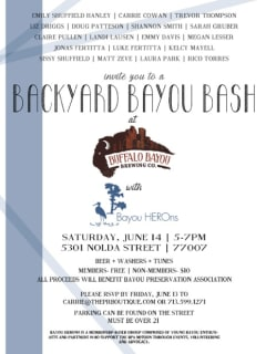 """Buffalo Bayou Brewing Company hosts """"Backyard Bayou Bash"""""""