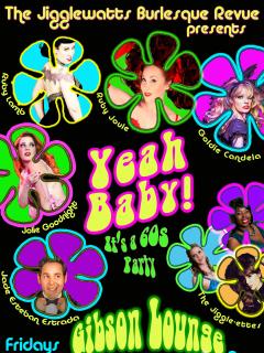 poster of Jigglewatts Burlesque Revue june 2014 show Yeah Baby
