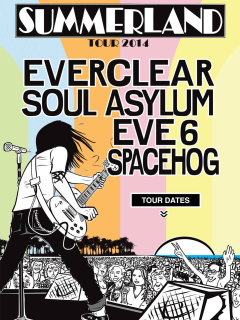 poster for 2014 Summerland Tour at acl live