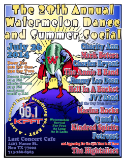 28th Annual Watermelon Dance and Summer Social benefiting KPFT 90.1 FM