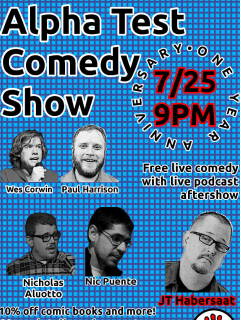 Alpha Test Comedy SHow one year later