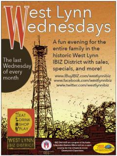 poster West Lynn Wednesdays IBIZ district