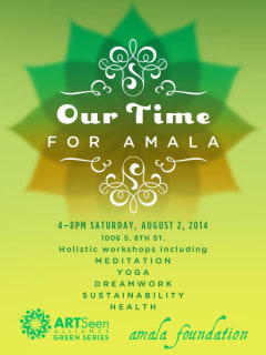 poster Our Time for Amala Foundation fundraiser