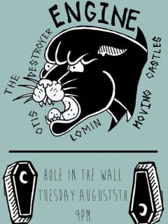poster Otis the Destroyer at Hole in the Wall august 2014