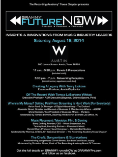 poster Grammy FutureNow at w austin