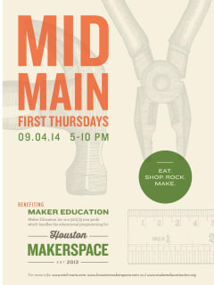 Mid Main First Thursday benefiting Maker Education
