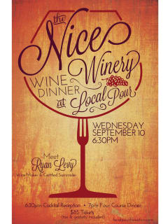 Nice Winery Wine Dinner
