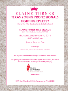 """Texas Young Professionals Fighting Epilepsy """"Call of the Wild"""" Celebration and Gala Pre-Party"""