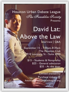 """The Franklin Society presents """"David Lat: Above the Law Q&A"""""""