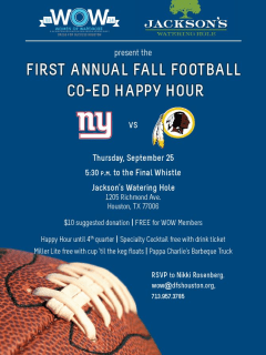 Women of Wardrobe's First Annual Fall Football Co-ed Happy Hour