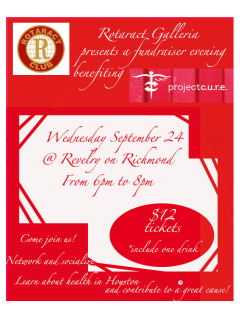 Fundraising Mixer for Project CURE