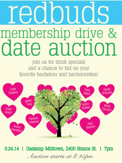 RedBuds Membership Drive & Date Auction benefiting Trees for Houston