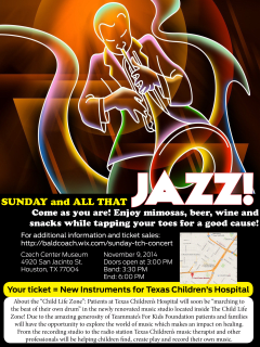 """A Concert benfiting Texas Children's Hospital: """"Sunday and all that Jazz"""""""