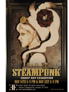 East End Studio Gallery opening reception: Steampunk Group Exhibition