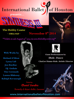 International Ballet of Houston presents Synthesis III