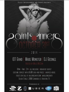 """""""HalloweenHTX - Saints and Sinners"""" presented by Select Entertainment and Events"""