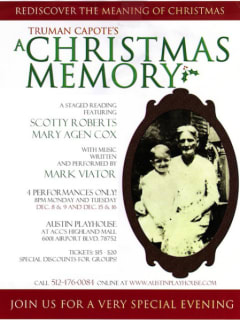 Austin Playhouse - A Christmas Memory poster - December 2014