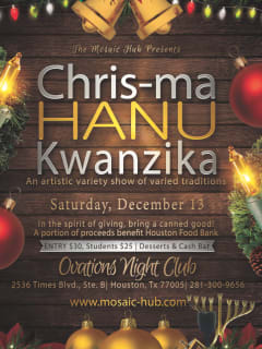 "The Mosaic Hub presents ""Chris-ma-Hanu-Kwanzika"""
