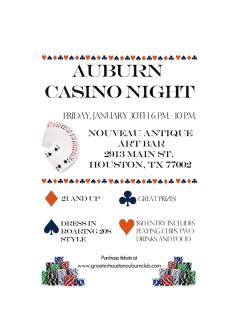 "Greater Houston Auburn Club hosts ""Casino Night"""