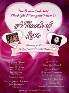 Fat Bottom Cabaret's Midnight Menagerie_A Touch of Love_Valentine's Day_2015