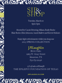 """Texas Young Professionals Fighting Epilepsy hosts """"Sip, Shop and Support"""" Shopping Party"""
