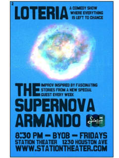 Station Theater Improv Comedy: Supernova Armando with guest Cole Triplett