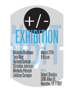 Art opening reception: +/- Exhibition