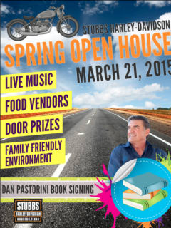 Dan Pastorini book signing and Stubbs Harley-Davidson spring open house