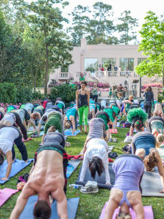 Yoga in the Gardens at Rienzi
