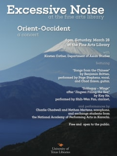 University of Texas_UT Excessive Noise Concert Series_Orient Occident_March 2015
