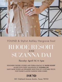 FOUND Austin_Austin Fashion Week soiree_trunk show_April 2015
